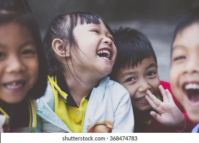 BANGKOK, THAILAND - Jan 28, 2016. Bangkok County. Activity of teaching kindergarten. Kindergarten students are learning. The students are fun and smiling happily.