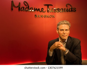 BANGKOK, THAILAND - JANUARY 08, 2019: George Clooney wax figure, Madame Tussaud Museum