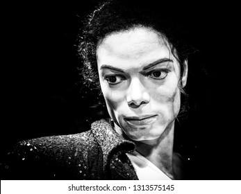 BANGKOK, THAILAND - JANUARY 08, 2019: Michael Jackson wax figure at Madame Tussaud Museum