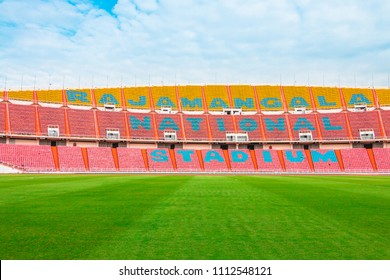 Bangkok, Thailand - January, 11, 2018 : Rajamangala National Stadium, soccer stadium. Rajamangala national stadium of Thailand and the home stadium for the Thailand national football team.