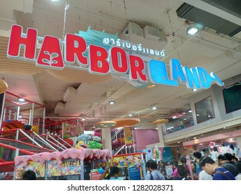 Bangkok, Thailand - January 12, 2019 : Harbor Land, the Playpark at Gateway Bangsue. The new shopping mall at Bangsue area.