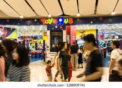 BANGKOK , THAILAND - January 12, 2019: toys r us store, a lot of people will come to this holiday shopping to buy things to spend a day off.
