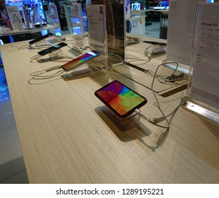 Bangkok, Thailand. January 15, 2019 - new iPhone XR and new iPhone products display in shopping mall.