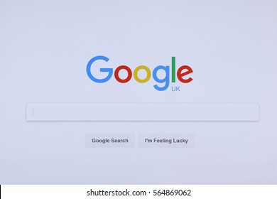 BANGKOK, THAILAND -JANUARY 17, Google Search  Website on the Screen on January 17,2017 in Thailand
