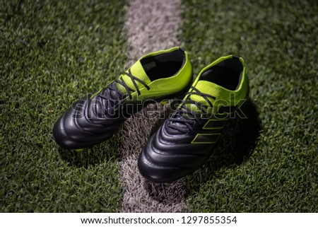 2364df9a9c5dc2 Bangkok   Thailand - January 2019   Adidas present Copa 19.1 in new colour  way as