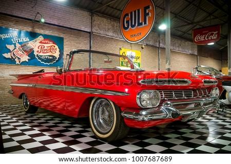 BANGKOK THAILAND January American Stock Photo Edit Now - American muscle car show 2018