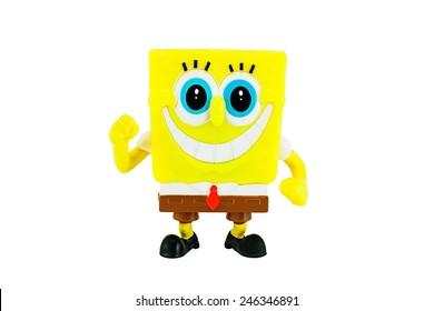 Bangkok, Thailand - January 22, 2015: SpongeBob SquarePants toy character from SpongeBob SquarePants American animated television series created by marine biologist and animator Stephen Hillenburg.