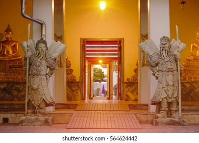 Bangkok Thailand - January 23 2017 Stone Thai-Chinese style sculpture and & Thai Door Images Stock Photos \u0026 Vectors | Shutterstock