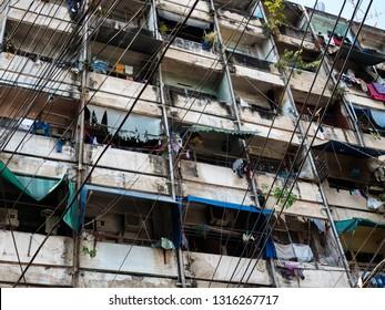 BANGKOK, THAILAND - JANUARY 23, 2019: Chinatown. Slum