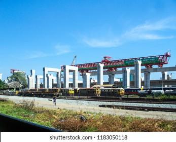 BANGKOK, THAILAND - JANUARY 3, 2018 : Construction of the largest railway station in ASEAN At Bang Sue Station, Bangkok, Thailand.
