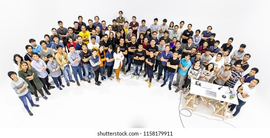 BANGKOK, THAILAND - JUL 14, 2018: Group of Thai contributors join in 18th  ShutterTalk Thailand seminar. Shutterstock support Thai community to hold several events for contributor development.