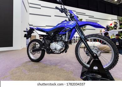 Bangkok, Thailand, Jul 15, 2020 - Yamaha WR155 motocross in Bangkok Motor Show 2020