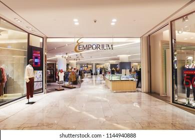 BANGKOK, THAILAND - JUL 21 : Emporium Shopping Mall on July 21, 2018 in Bangkok, Thailand. Emporium Mall is one of popular shopping center connected to Emquartier.