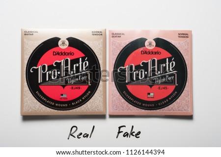 fb679e1f5ff4 BANGKOK THAILAND JULY 03 2018 Counterfeit Stock Photo (Edit Now ...