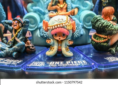 BANGKOK THAILAND ,JULY 08 2018 , One Piece pirates manga character  Tony tony chopper model  on JULY 08 2018