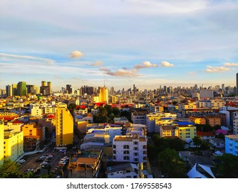 Bangkok/ Thailand - July 1 2020: Landscape view of an asian city on a beautiful day