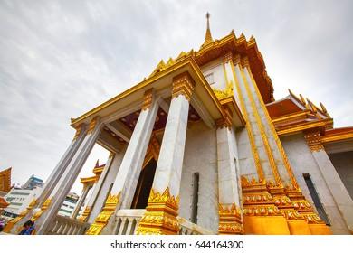 Bangkok, Thailand - July 10, 2016: View from Temple of Golden Buddha Wat Traimit