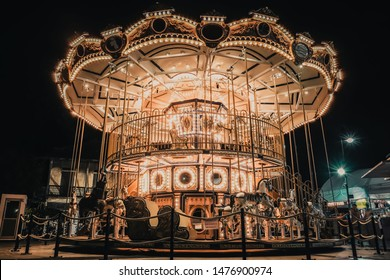 Bangkok, Thailand - July 10, 2019: Beautiful carousel at Asiatique The Riverfront Bangkok.