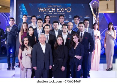 Bangkok, Thailand - July 11, 2017 ; Fashion Show Siam Paragon Watch Expo 2017, press conference at event hall, Siam Paragon.  Present new collection from Bezel World Watch