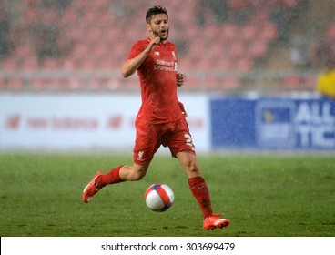 BANGKOK THAILAND JULY 14 : Adam Lallana player of Liverpool in action during the international friendly match Thai All Stars and Liverpool FC at Rajamangala Stadium on July14,2015 in,Thailand.