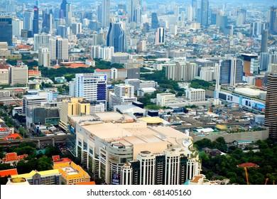 BANGKOK, THAILAND - JULY 15, 2017 :Modern city view of Bangkok, Thailand. Cityscape.