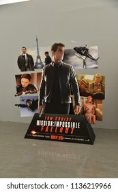 Bangkok, Thailand - July 15, 2018: Standee of Movie Mission: Impossible 6 or MI6 – Fallout at the theater