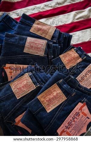 vintage levi labels