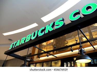 Bangkok, Thailand - July 18 2016: Starbucks coffee store.