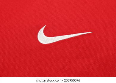 check out 62199 ab67d BANGKOK, THAILAND - JULY 20, 2014  the logo of Nike brand on the