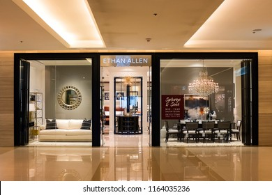 Bangkok, Thailand - July 22, 2018 : Exterior view of Ethan Allen furniture store at Siam Paragon