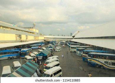 Bangkok, Thailand - July 27, 2018: Bangkok bus terminal atmosphere before a long break weekend when people went back to their hometown.