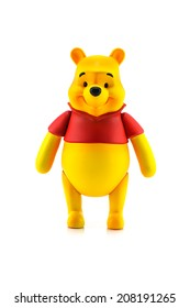BANGKOK, THAILAND - July 28, 2014 : Figure of Winnie the Pooh character . Winine the Pooh is animation from Disney.