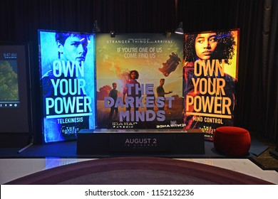 Bangkok, Thailand - July 28, 2018: Standee of Movie The Darkest Minds Displays at the Theater.