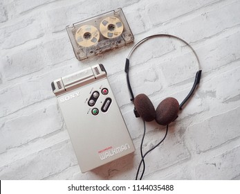 Bangkok Thailand July 28,2018 Sony walkman cassette player by Sony Company.