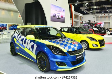 BANGKOK, THAILAND - JULY 6 : Status of sport car decoration and modify for racing displayed in Bangkok International Auto Salon 5-9 July 2017 at Impact Arena, MaungThong Thanee in Nonthaburi