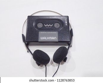 BANGKOK, THAILAND - JULY 7,2018: Sony Walkman From Sony Company Made in Japan.