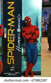 Bangkok, Thailand - July 8, 2017: Cosplay from the Movie Spider-Man: Homecoming at the theater to promote the movie.