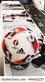 Bangkok, Thailand- July 9, 2016: Adidas BEAU JEU official Match Ball for the UEFA EURO 2016 football tournament in France