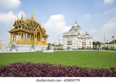 Bangkok Thailand Jun 18 2016 Ananta Samakhom Throne Hall Bangkok in Thailand and The Seventieth Anniversary Celebrations of. His Majesty's