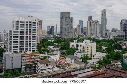 Bangkok, Thailand - Jun 18, 2017. Business district of Bangkok, Thailand. Bangkok has a population of over 8 million, or 12.6 percent of the country population.