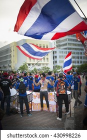 BANGKOK THAILAND Jun 3 2016 :Unidentified fan of Thailand supporters during the King's cup match Thailand 2016  Thailand Team and Syria Team at Rajamangala Stadium on Jun 3 2016 in Thailand.