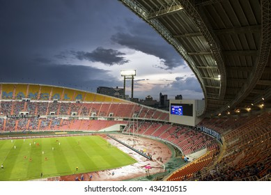 BANGKOK THAILAND Jun 5 2016 : Unidentified fan of Thailand supporters during the King's cup match Thailand 2016 Thailand Team and Jordan Team at Rajamangala Stadium on Jun 5 2016 in Thailand.