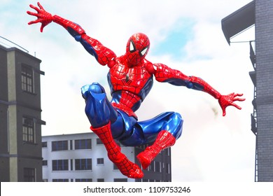 Bangkok, Thailand- June 10,2018: Spider-Man, an action figure from famous Marvel's comic.