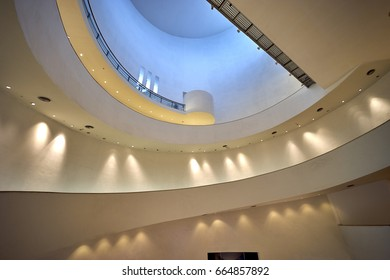 Bangkok, Thailand - JUNE 15, 2017: Interior of Bangkok Art and Culture Centre. Abstruct modern architecture