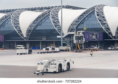 Bangkok, Thailand - June 15, 2017: New Bangkok International Airport Suvarnabhumi in Thailand