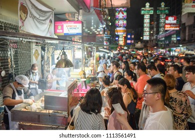 Bangkok, Thailand - June 15 2018 : Street food at Yaowarat (China town in thailand)