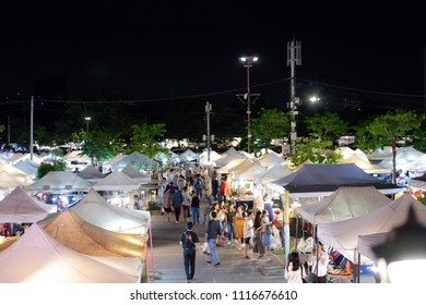 Bangkok, Thailand - JUNE 16, 2018 : JJ Green Night Market might just be the coolest place to shop in Bangkok.  Part vintage flea market, part second hand market and part local drinking hangout.