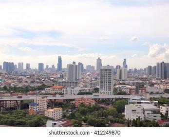 "Bangkok, Thailand - June 17, 2015 : Modern glass building of ""Bangkok Business Center"""