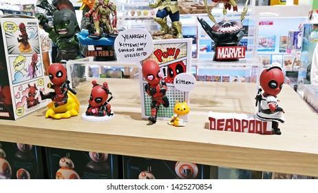 Bangkok Thailand , June , 2019 , Deadpool mini plastic model action figures