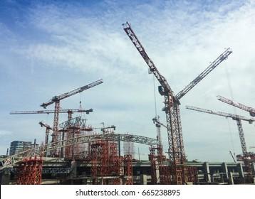 BANGKOK THAILAND - JUNE 21, 2017 : Expressway will be built in Bangkok and will be complete on October 25, 2020 in Bangkok, Thailand